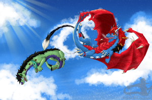 Playing with clouds -Gift- by ShadoDoragon
