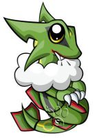 Rayquaza Chibi by RedPawDesigns