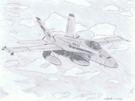 F-18C Hornet by NDTwoFives