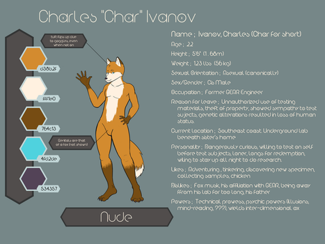 Char Reference (No clothes, SFW) by thetfkitsune