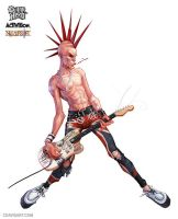 Guitar Hero - Johnny Napalm by cdavisart