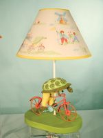 Turtle on a Bicycle Lamp by SmilinJack