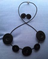 Upcycled button jewellery set by Lovelyruthie