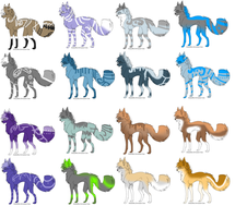 6 point wolf adopts 2 by Icey-adopts