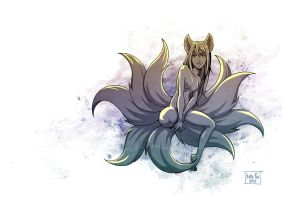 Nine-tailed by Kate-FoX