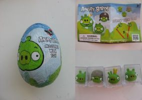 Angry birds chocolate egg by Twilightberry