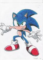 sonic the hedgehog by throughtherain67