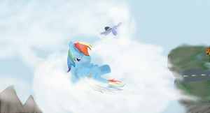 Dashie's Mentor. by accident-proneybrony