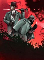 Holmes and Watson by ChrisBMurray