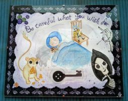 Hand Painted ''Coraline's Dream'' Watercolour by PossumPip-Creations