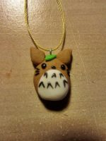 Totoro Bread Charm~ Polymer Clay by FeatherLetters