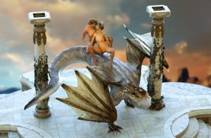 Dragon scene 1 by Posereality4