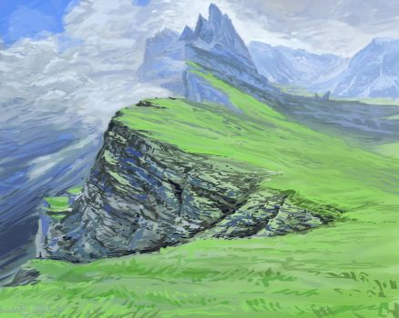 Green Mountains Landscape Study by LucasSchneider