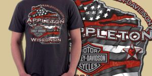 Appleton wisconsin - harley davidson - tee graphic by sunny84india
