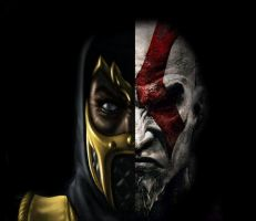 Kratos vs Scorpion by Jimi90