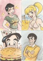 Archie Cards by AmberStoneArt