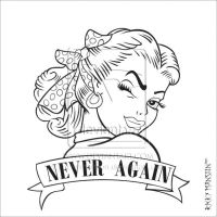 Never Again - Lineart by rickymanson
