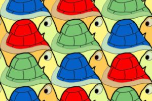 Turtle Army Tesselation by luigihann
