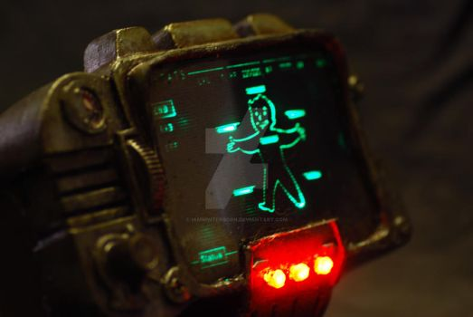 Pip-boy 300 'lights on' by iamwinterborn