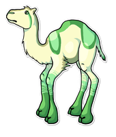Lyme as a Camel - Gift Art for Creamex by zomgmad