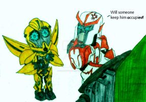 Poor Impatient Bumblebee by InkArtWriter