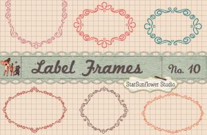 Vintage Doodle Frames Custom Shapes by starsunflowerstudio