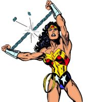 Wonder Woman chain break by musclebabe26
