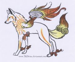 Sunlight Okami by xMaikoWolfx