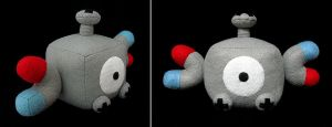 Magnemite Plush Cube by caffwin