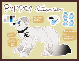 Pepper ref for lockian by Pokepaws