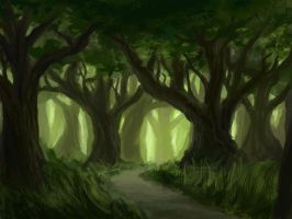 Green Forest by Dreamin-Lea