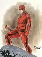 C2E2 in show Commission Daredevil by Sajad126