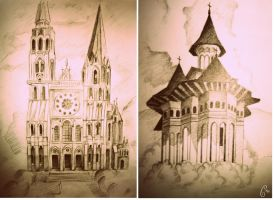 cathedrals by dr4wing-pencil