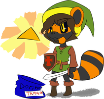 +LP+ RIngtail Plays The Legend of Zelda(Flats.) by Ringtail-Randl