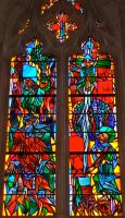 National Cathedral Stained Glass 3 by 44NATHAN