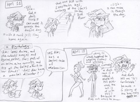 Sketchdiary April 11 and 12 by Caffinated-Pinecone