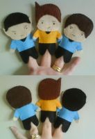 Star Trek TOS Finger Puppets by black-lupin