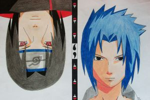 Uchiha Brothers - Sasuke and Itachi by SakakiTheMastermind