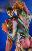 Bollywood Tiger bodypaint by PaintOnYourFace