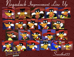 Negaduck Improvement Line Up by sweetkat22