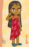 Lilo and red dress by Yitzin