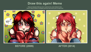 Draw this again! Meme by NumiCardinal