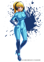 Commission : Samus Aran by jadenkaiba