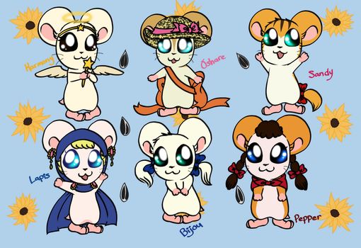 Favorite Ham-Girls by Cryssy-Crys