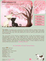 Pink Kittens Journal Skin by moonfreak