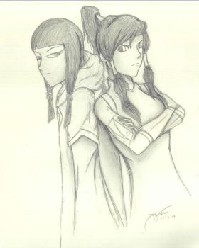Korra and Eska by demyx4ever
