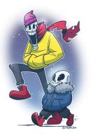 Papyrus and Sans by SupaCrikeyDave