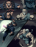 Akuma vs Gouken comic pg by joverine