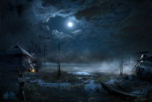 Night halt in the Zone by Bobrbor