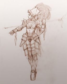 Gladiator Queen by your-fathers-belt